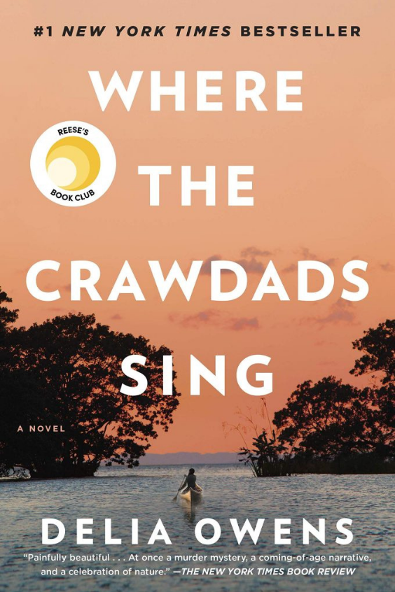 Book, Where the Crawdads Sing by Delia Owens